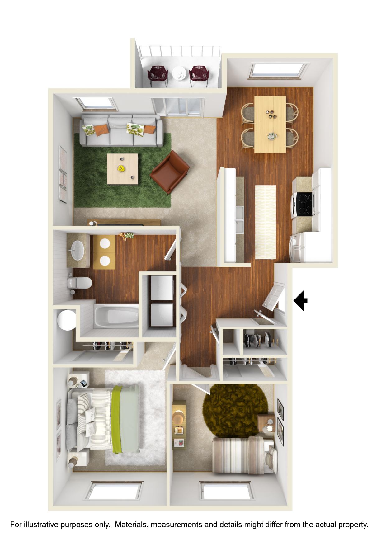 Corvallis Apartments | Spring Creek | Floorplan 4