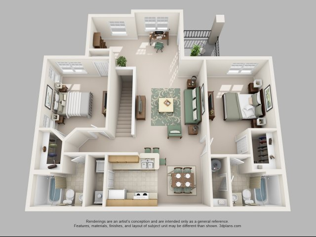 Two Bedroom Floor Plans 4   Apartments In Charlotte NC   Courtney Ridge. Apt In Charlotte NC   Courtney Ridge
