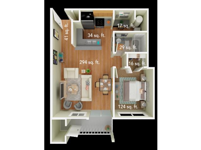 1 Bedroom Floor Plan | Big Trout Lodge