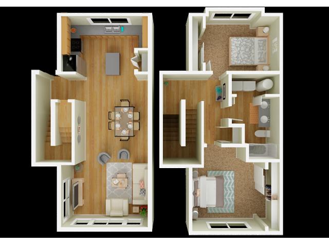 2 Bedroom Floor Plan | Big Trout Lodge 4