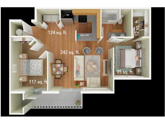 2 Bedroom Floor Plan | Big Trout Lodge 2