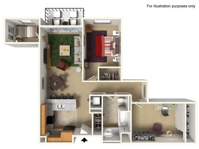 Floor Plan   Redmond Square. Apartments for Rent in Redmond WA   Redmond Square