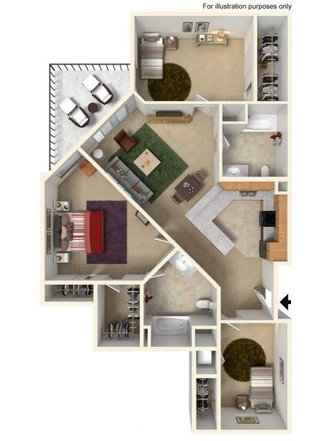 Floor Plan 3 | Redmond Square