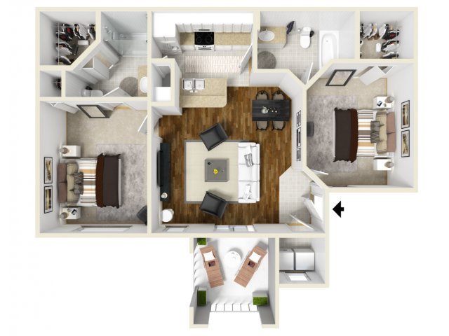 Two Bedroom Floorplan | Belmont