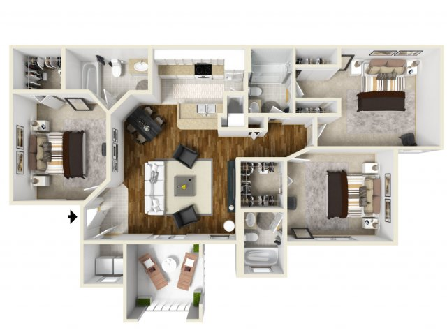 Three Bedroom Floorplan | Belmont