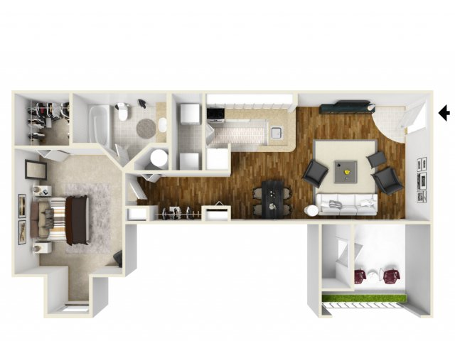Floorplan 1 | Apartments For Rent Orlando FL