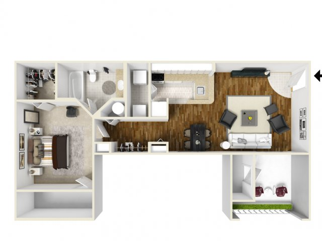 Floorplan 2 | Apartments Orlando FL