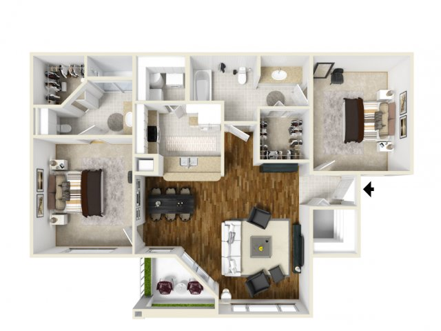 Floorplan 4 | Orlando Florida Apartments