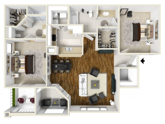 Floorplan 5 | Apartments In Orlando Florida