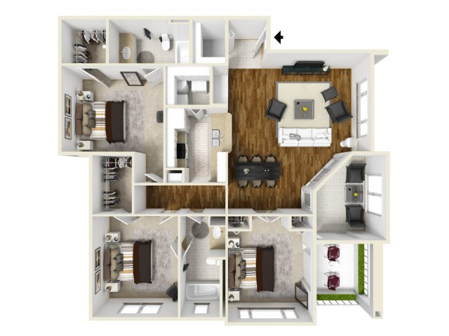 Floorplan 6 | Best Apartments In Orlando