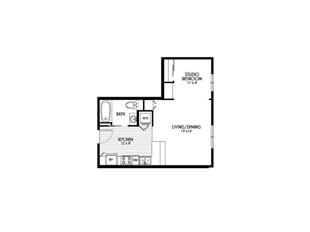 Studio Floor Plans | Apartments For Rent In Eugene Oregon | Crescent Village East
