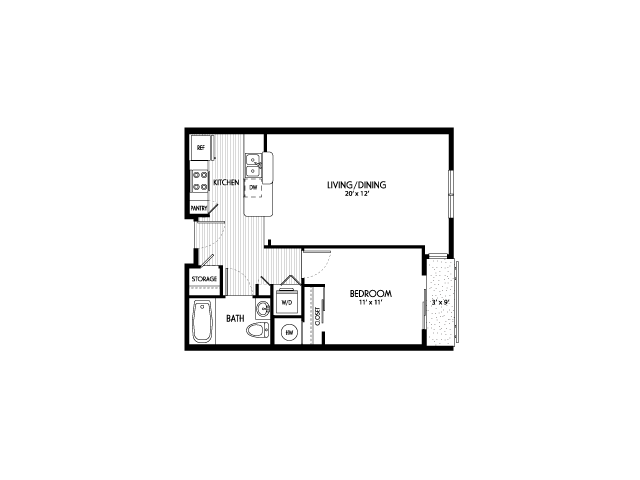 One Bedroom Floor Plans | Apartments For Rent In Eugene Oregon | Crescent Village East