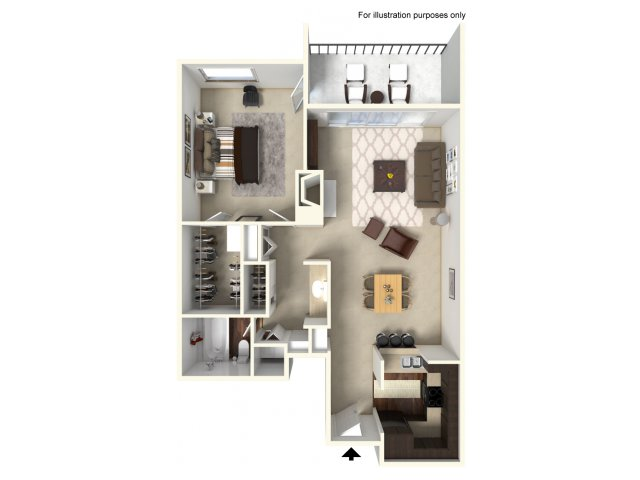 1 Bedroom Floor Plan | Alta Springs