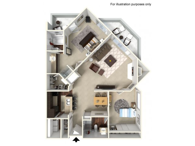 2 Bedroom Floor Plan | Alta Springs