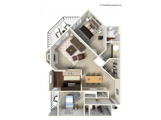 2 Bedroom Floor Plan | Alta Springs 4