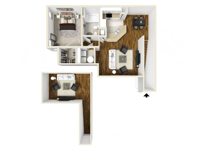 One Bedroom Floor Plans | Apartments In Orlando | Manor Row