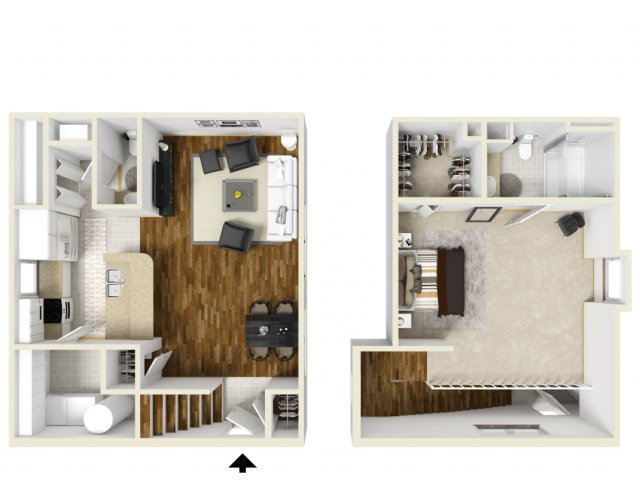 One Bedroom Floor Plans 3 | Apartments In Orlando | Manor Row