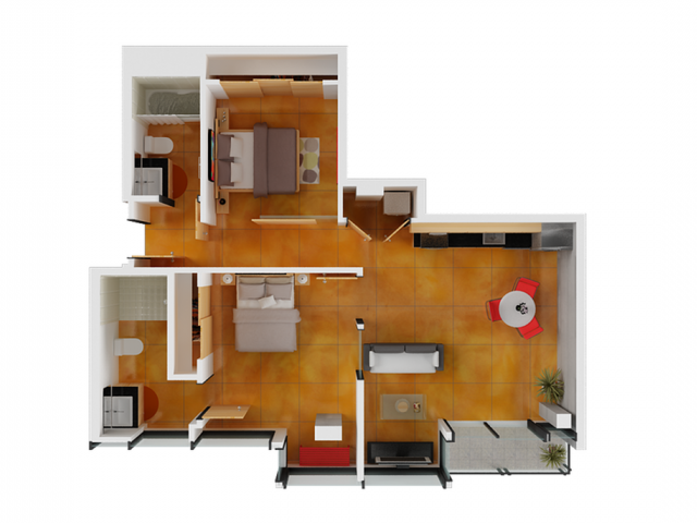 Two Bedroom   2 Bedroom Floor Plan   Apartments San Francisco. Studio Apartments San Francisco   Arc Light