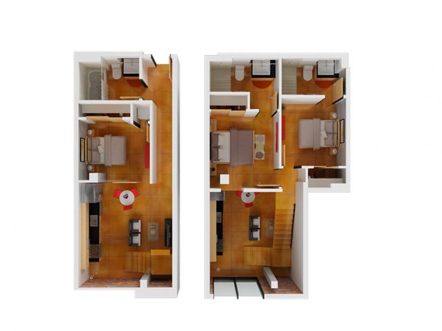 3 Bedroom Floor Plan | San Francisco Apt For Rent | Arc Light