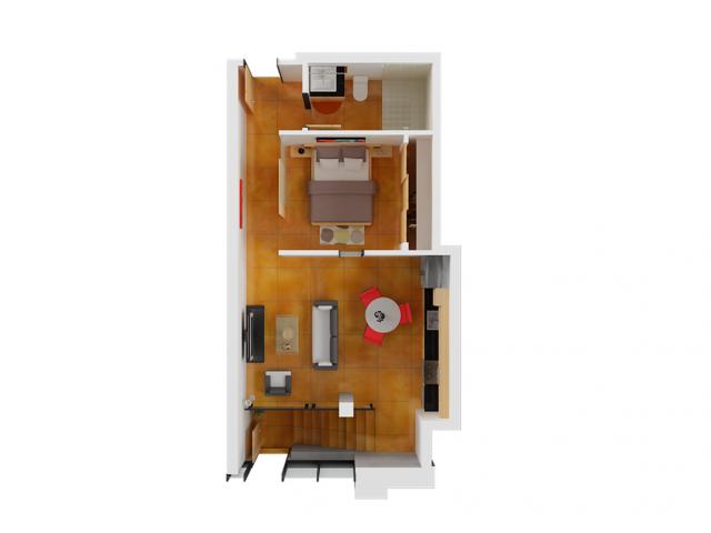 1 Bdrm Floor Plan | Studio Apartments San Francisco | Arc Light