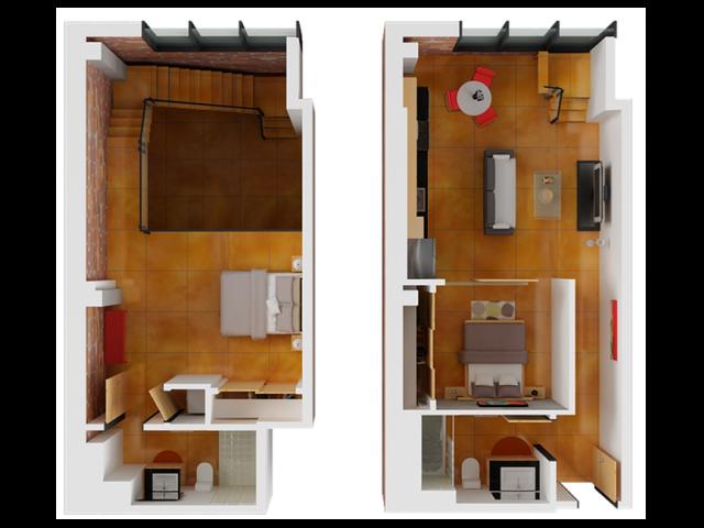 2 Bdrm Floor Plan   Apartment San Francisco   Arc Light