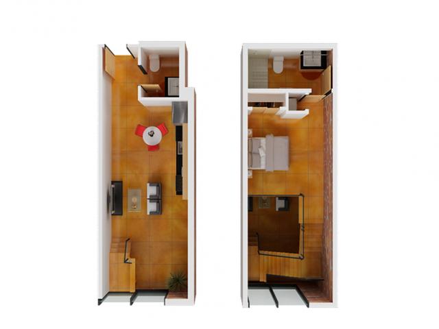1 Bdrm Floor Plan   Studio Apartments San Francisco   Arc Light