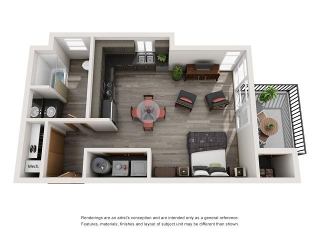 Studio 2 | Spokane Valley Apartments | Bella Tess
