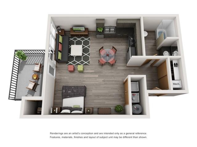 Studio 3 | Spokane Valley Apartments | Bella Tess