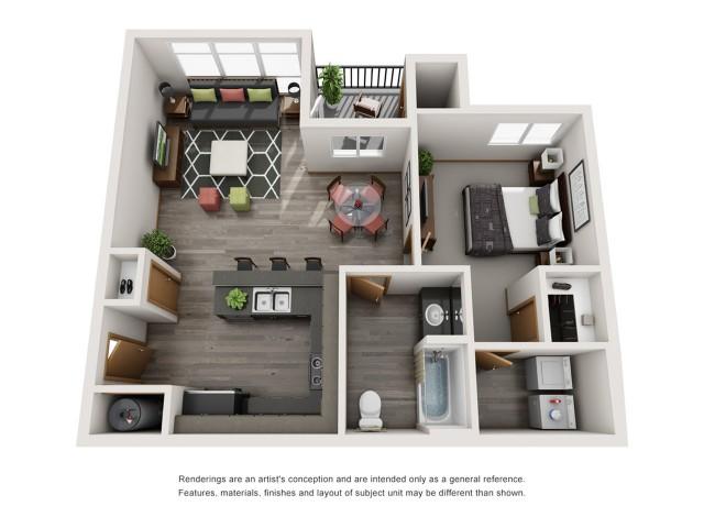 1bd1bth | Spokane Valley Apartments | Bella Tess