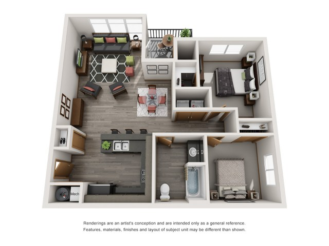 2bd1bth | Spokane Valley Apartments | Bella Tess