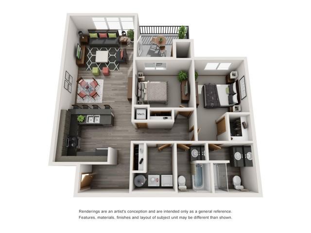 2bd2bth| Spokane Valley Apartments | Bella Tess