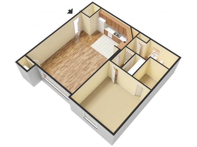 1 Bedroom Floor Plan 1   Apartments For Rent In Sandy Utah   Rockledge at Quarry Bend
