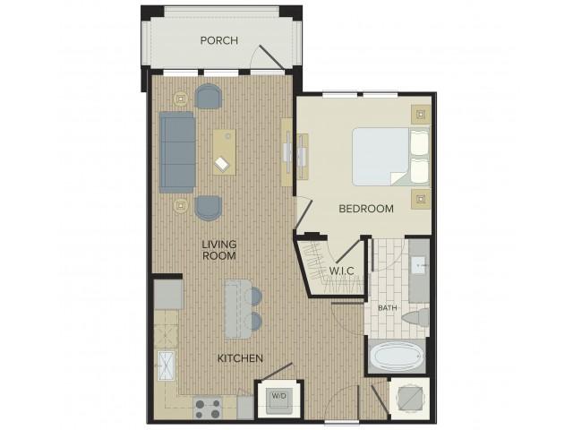 1 Bedroom Floor Plan | Port Orange Apartments | Sanctuary at West Port
