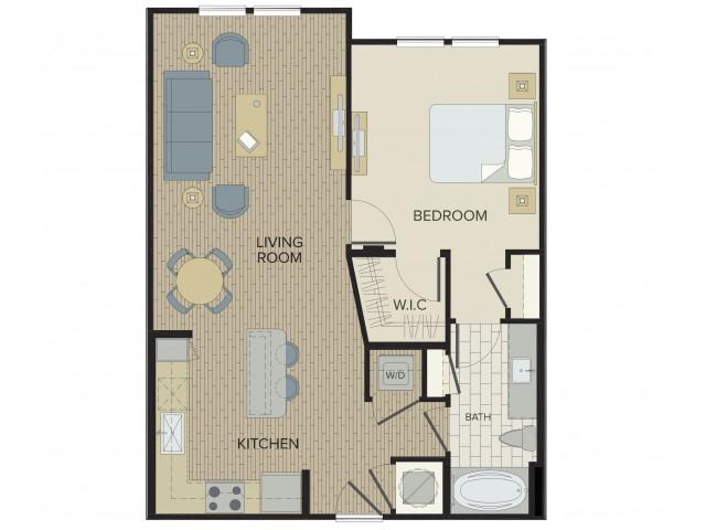1 Bdrm Floor Plan | Apartments For Rent Port Orange FL | Sanctuary at West Port