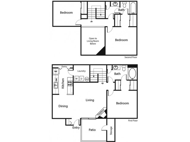 3 Bedroom Floor Plan | Ahwatukee Apartments | Verano Townhomes