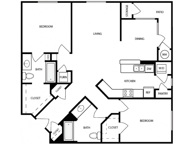 Floor Plan 3 | West Jordan Utah Apartments | Novi at Jordan Valley Station