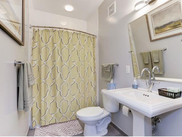 Spacious Bathroom | Luxury Apartments In Bethesda | Upstairs At Bethesda Row