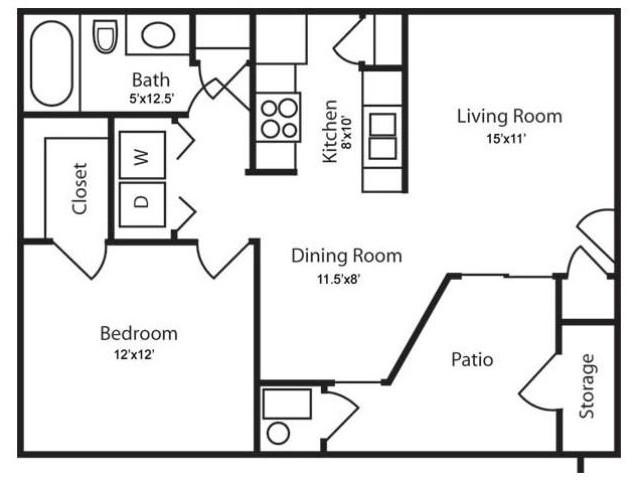 Floor Plan 1 | Apartments In Salt Lake City | Park Vue
