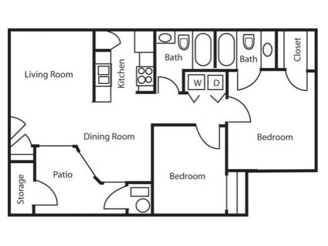 Floor Plan 3 | Apartments In Salt Lake City | Park Vue