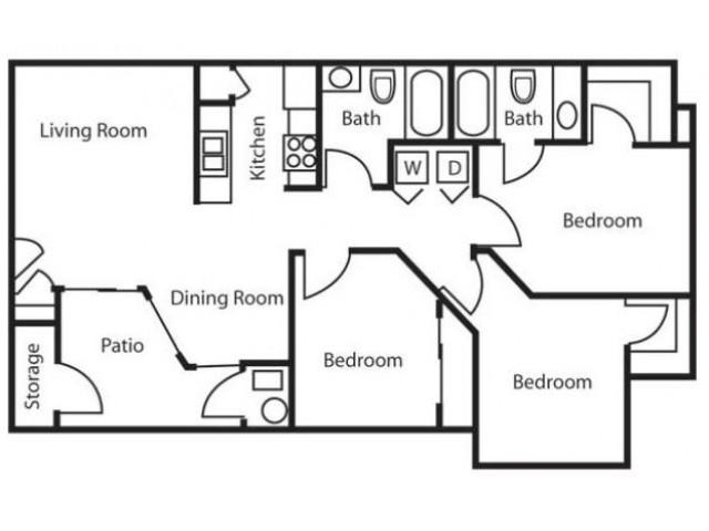 Floor Plan 4 | Salt Lake City Apartments | Park Vue