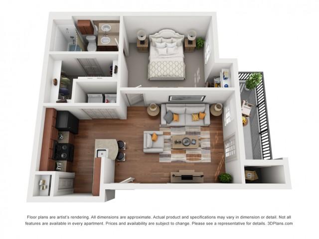Floor Plan 1 | Austin Apt | Villages at Turtle Rock