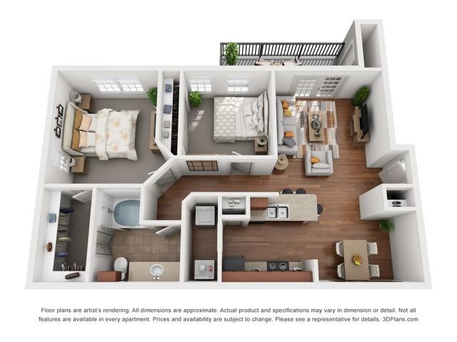 Floor Plan 6 | Austin Apt | Villages at Turtle Rock