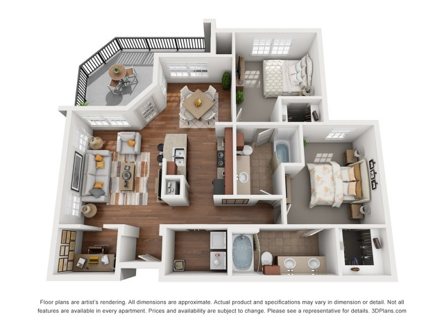 Floor Plan 7 | Apartments In Austin Tx | Villages at Turtle Rock