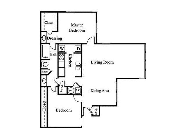 Floor Plan 3 | Greenhouse Apartments