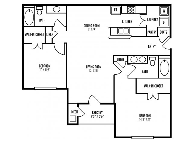 Floor Plan 3 | The Reserve at Mill Creek