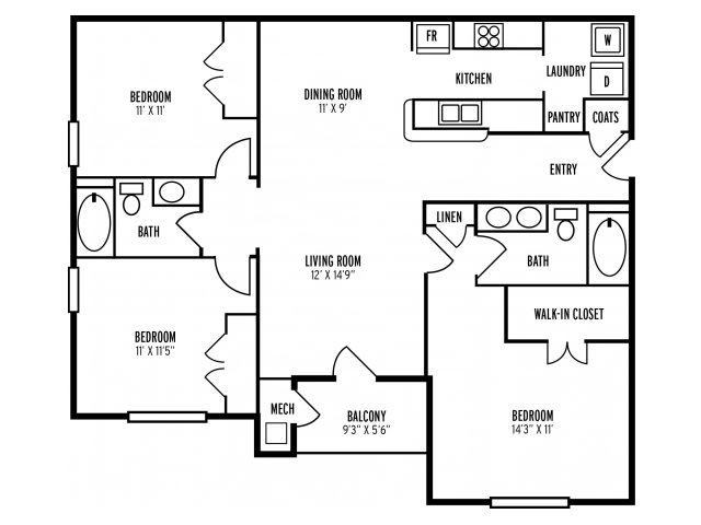 Floor Plan 4 | The Reserve at Mill Creek