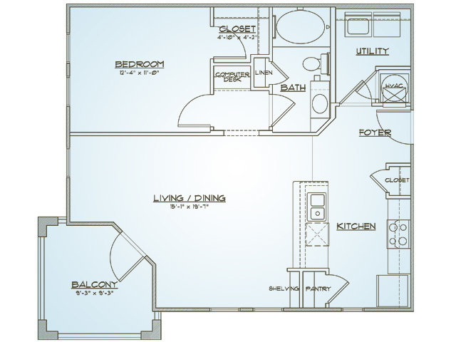 Floor Plan 2 | 1000 West