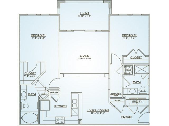 Floor Plan 4 | 1000 West