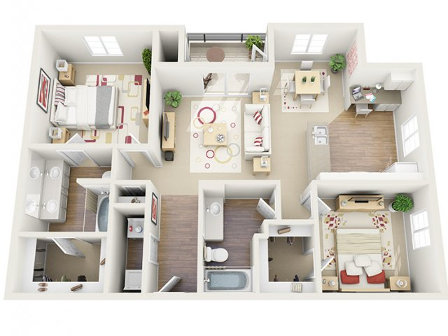 Floor Plan 12 | 1 Bedroom Apartment Santa Monica | AO Santa Monica