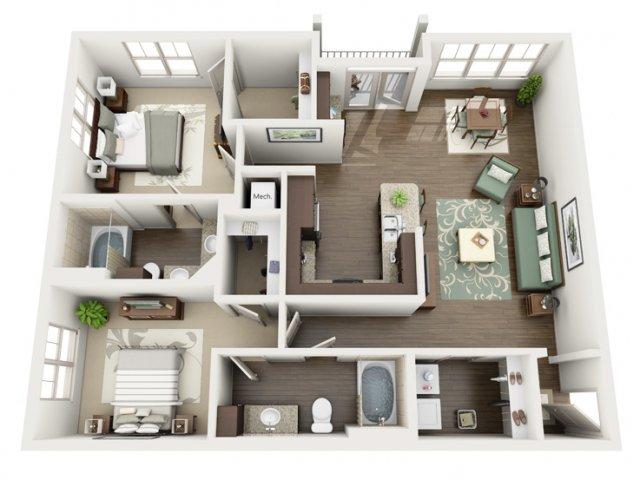 Floor Plan 14 | Azure (FL)